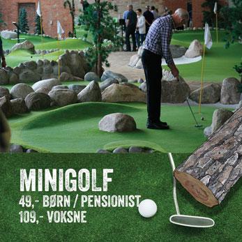 mand der spiller minigolf